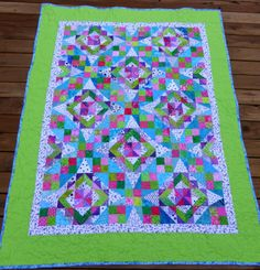Vicki's Fabric Creations: Celtic Solstice bound baby quilt