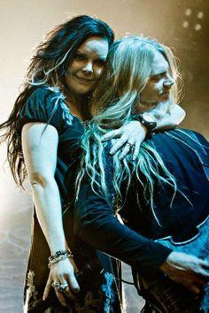 Marco Hietala and Anette Olzon