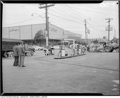What Lawrence Avenue used to look like in Toronto Toronto Ontario Canada, Old Gas Stations, College Campus, Aerial View, Old Pictures, Historical Photos, Past, The Neighbourhood, Street View