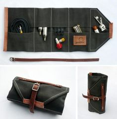 Godspede - Bicycle tool roll -- (for Starling & Hero.) --- Would make a great vintage-styled cleaning kit roll.