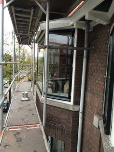 Roc Schilderwerken buiten raam kozijn Rotterdam Sigma sikkens evert de koning kleurnummer grachten groen herengrachtgroen monumenten groen QO 05 10 in combinatie met Ral 9010