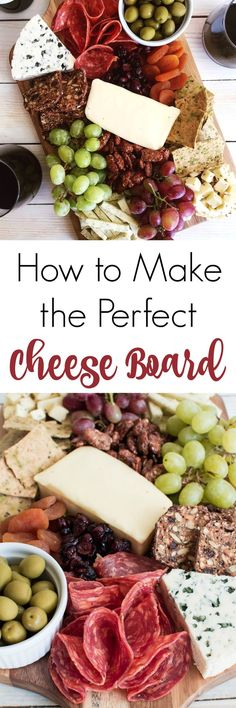 Pinner wrote: Nothing compares to a great cheese board! Learn how to make a cheese board — from choosing cheeses & picking accompaniments to composing it all on a board! Appetizers For Party, Appetizer Recipes, Snack Recipes, Cooking Recipes, Snacks, Appetizer Plates, Food Platters, Cheese Platters, Antipasto