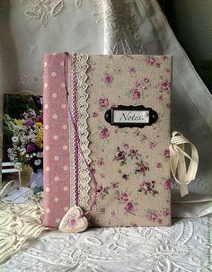 """Купить Блокнот ручной работы """"Лето в Провансе"""". - бледно-розовый, блокнот ручной работы, блокнот"""