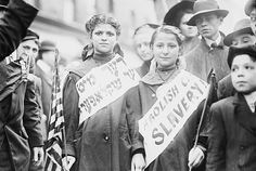 Children in child labor demonstration in a New York Labor Day parade in 1909.