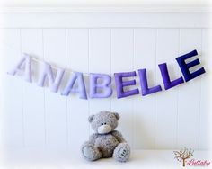 Personalized signage name banner/ bunting/ by LullabyMobiles,