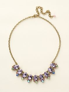 Pointed Crystal Oval Line Necklace in Spring Rain by Sorrelli - $175.00 (http://www.sorrelli.com/products/NCY14AGSPR)