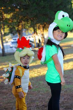 Yoshi and Bowser costume diy