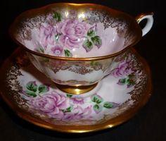Royal Albert Portrait Series Gold Tea Cup & Saucer Teacup Bone China England