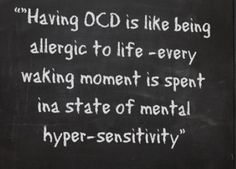 yesss. -Suffering from OCD is not easy. If you are showing some signs of this condition, know more about it http://www.integrativepsychiatry.net/obsessive_compulsive_disorder.html