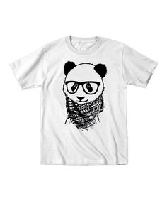 Love this White Hipster Panda Tee - Boys on #zulily! #zulilyfinds