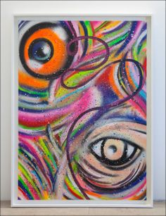 """Painting: """"Mirror"""" I Aerosol, acrylics and oil on canvas Whispering Lines series I  Framed: 2,00 m x 1,50 m I 2012 I Artist Tobias Schreiber"""