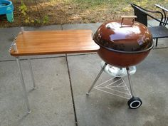 Vintage Weber Work Table Specs Work Table Table Diy Grill