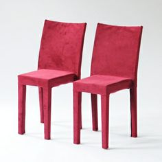 New Product Alert: You've been asking for color and it's finally here - our La Marie chairs are now available with custom color covers! Shown here in a rich wine velvet.   taylor creative inc