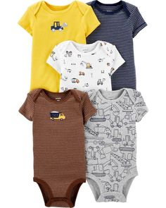 CARTERS Boys 3 Month Bodysuit Shirt Diaper Cover Baseball Outfit Set NWT