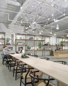 Quid Offices: A New Office Transformation that Reflects Quid's Love of Words Corporate Office Design, Office Space Design, Corporate Interiors, Office Interiors, Design Offices, Cafe Interiors, Cool Office Space, Workplace Design, Office Designs