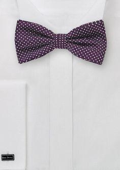 Pin Dot Bow Tie in Dark Purple