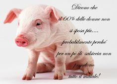 Dicono che il 60% delle donne non si sposa più... probabilmente perché per un po' di salsiccia non prendono tutto il maiale!