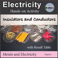 A hands-on activity for studying electricity and insulators and conductors. Takes a few minutes to set up the first time, but it's well worth it! Students can conclude that all metals are conductors of electricity. Result table and conclusion section provided. All physical science resources are a...