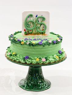 Gardener's Birthday Cake. Florals. Hand painted. Buttercream.