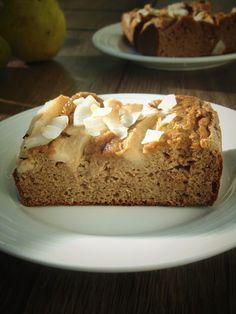 Lekkie ciasto daktylowe z gruszkami   Moje zdrowe słodkości oraz porady żywieniowe