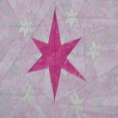 "My Little Pony- Twilight Sparkle's Cutie Mark by Kristen Nelson (6kittensquilt) tested by Joanne Harris 10"" paper pieced, free on fandominstitches.com"