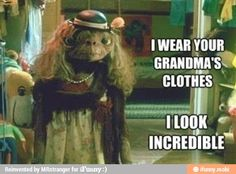 Wearing grandma's clothes / iFunny :)