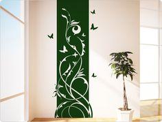 Perfect Wandtattoo Banner Ranke mit Schmetterling