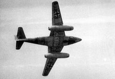 The Messerschmitt Me 262 bore design elements still seen today, including a swept wing and underslung engine nacelles. Ww2 Aircraft, Fighter Aircraft, Military Aircraft, Fighter Jets, Ww2 History, Modern History, Luftwaffe, Me262, Messerschmitt Me 262