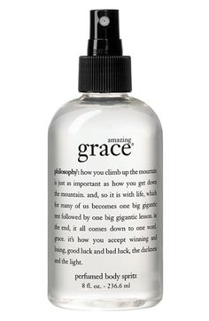 Get a whiff of this: Philosophy's Amazing Grace Body Spritz will remain in the air long after I am gone.