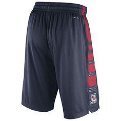 Arizona Wildcats Nike Practice Elite Stripe Performance Shorts - Navy