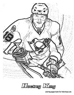 nhl pittsburgh penguins hockey king coloring page