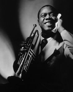 Louis Armstrong poses in the November 1935 issue of Vanity Fair.