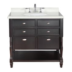 Best Photo Gallery For Website Ove Decors Espresso Ove Decor Single Sink Bathroom Vanity with Top guest bathroom