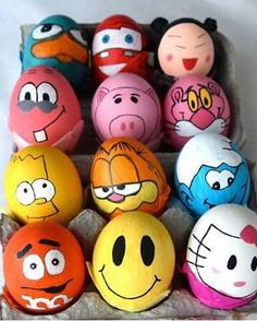 Awesome Easter Egg designs for easter day .Easter egg photos ,funny easter egg designs ,homemade easter eggs in basket Cool Easter Eggs, Easter Egg Crafts, Easter Art, Easter Ideas, Funny Easter Eggs, Easter 2014, Bunny Crafts, Easter Table, Easter Decor