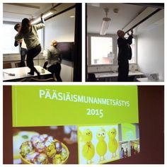 Jo perinteeksi muodostunut pääsiäismunanmetsästys villitsi henkilöstöä MPS:n toimistolla. Ykkössija jaettiin kahden ansiokkaan metsästäjän kesken.