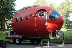 Bill Guernsey and his 16', Atomic Camper which includes a full bath and is…