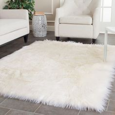 Rugs For Living Room How would you describe this? Rugs For Living Room white faux fur rug Handmade sheepskin shag rug. White Fluffy Rug, White Faux Fur Rug, White Rugs, Fuzzy White Rug, White Area Rug, White Leather, Living Room Decor, Bedroom Decor, Bedroom Rugs