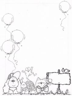 Bordes DJ Inkers_Carson y negro - Laura Zamora - Picasa Web… Borders For Paper, Borders And Frames, Colouring Pages, Coloring Books, Hand Drawn Border, Dj Inkers, Notebook Cover Design, Birthday Charts, Butterfly Logo