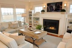 Salt Marsh Road Home - beach-style - Living Room - Other Metro - Casabella Home Furnishings & Interiors