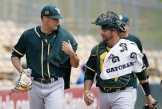 A Reason To Watch Every MLB Team  -  March 31, 2017:      Oakland Athletics pitcher Andrew Triggs, left, talks with catcher Stephen Vogt after warming up in the bullpen prior to a spring training baseball game against the Chicago White Sox, Wednesday, March 22, 2017, in Glendale, Ariz. (AP Photo/Ross D. Franklin)
