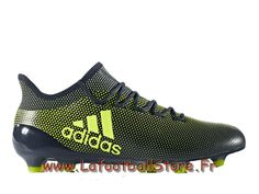 f4f7b791b73 Adidas Homme Chaussures de foot X 17.1 Terrain souple Yellow CG3664 Adidas  Pas cher