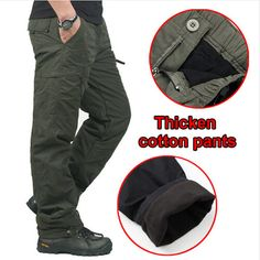 f6e5b60ca1e8 2016 Quality Winter Double Warm Men s Trousers Pants Male SWAT Army Combat  Military Tactical Cotton Pants Work Clothes-in Cargo Pants from Men s  Clothing ...