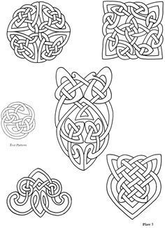 Celtic Knots ~ Choose from 24 Designs ~ Iron-on Embroidery Transfers for sewing