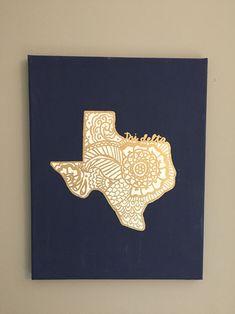 Tri delta Texas canvas www.dashofserendipity.com