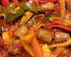 """Sausage and Peppers – voted the BEST! it was so good"""" … Sausage and Peppers – voted the BEST! it was so good"""" allthecooks Cabbage And Bacon, Cabbage Recipes, Great Recipes, Dinner Recipes, Favorite Recipes, Yummy Recipes, Dinner Ideas, Sausage And Peppers, Stuffed Peppers"""