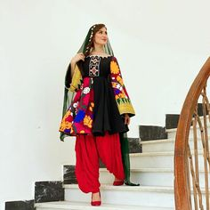 Garba Dress, Anarkali Dress, Hijab Gown, Afghani Clothes, Afghan Wedding, Afghan Dresses, Maxi Outfits, Designs For Dresses, Traditional Dresses