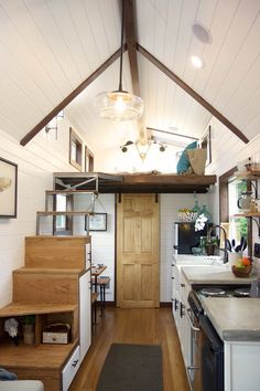 A 180 square feet tiny home in Oregon City, Oregon. Built by Tiny Heirloom