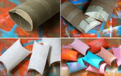 I always knew there other uses for the cardboard from paper towels and toilet paper! Great idea ~ msut try! Upcycled Crafts, Recycled Gifts, Cardboard Tube Crafts, Toilet Paper Roll Crafts, Craft Show Displays, Craft Show Ideas, Booth Displays, Valentines Gift Box, Diy Crafts For Adults
