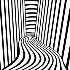Op art, also known as optical art, is a style of visual art that uses optical illusions. Op art works are abstract, with many better-known pieces created in black and white.