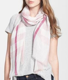 This Burberry linen scarf will be perfect for spring!